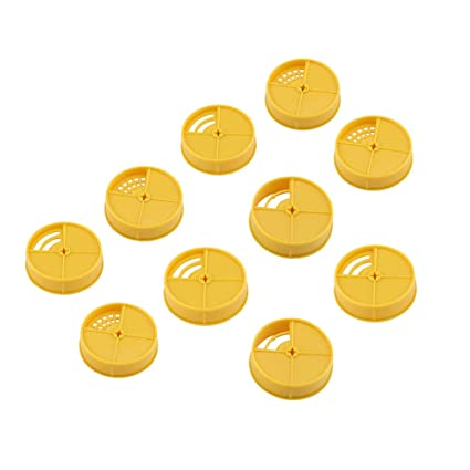 Plastic Beehives Doors Bee Nest Round Entrance Gate Disc Beekeeping Equipment Tools 10Pcs