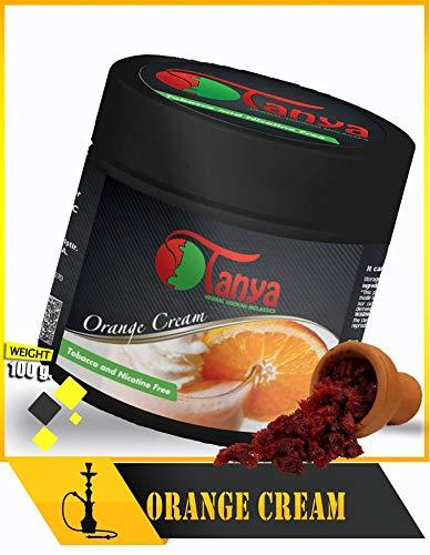 (Tanya Herbal 100% Nicotine and Tobacco Free Shisha Hookah Flavors 100G Cups (Orange Cream))