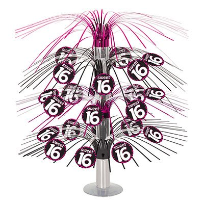Beistle 54593 Sweet 16 Cascade Centerpiece, 18-Inch Sweet 16 Birthday Centerpieces