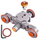AW Tabletop Rolling Slider Auto Dolly Car Motorized Camera Dolly 3 Wheel Video Mobile Rail Track