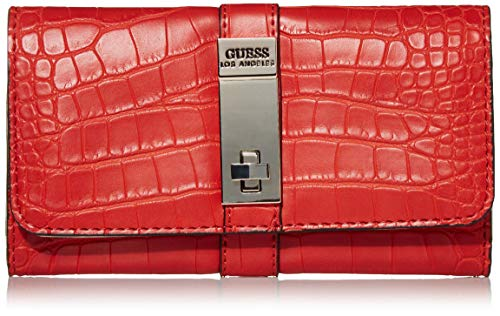 GUESS Asher Slim Clutch Wallet, Red