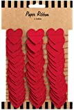 Party Partners Paper Ribbon Gift Wrap Accent or Wall Decoration, Red Hearts