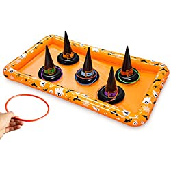 Kovot Witch Hat Ring Toss Inflatable Halloween Game - Fall Festival & Halloween Party Game