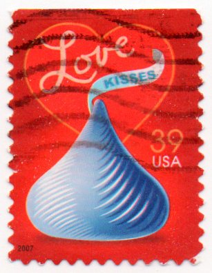 USA Postage Stamp Single 2007 Love Kisses Issue 39 Cent Scott 4122