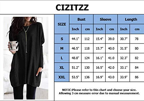 CIZITZZ Women Summer Casual T Shirt Dresses Plain Long Sleeve Dress,DGR,XL