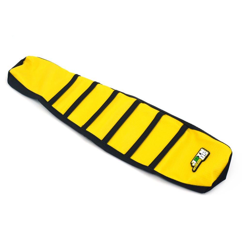 JFG RACING Gripper Soft Seat Covers Skin For Suzuki RM125 RM250 1996-2000 Yellow