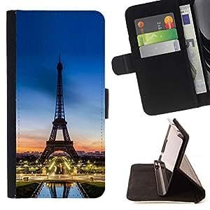 "Tour D'Eifel Torre Sunset Francia"" - Modelo colorido cuero de la carpeta del tirón del caso cubierta piel Holster Funda protecció Para Sony Xperia Z5 Compact Z5 Mini (Not for Normal Z5)"