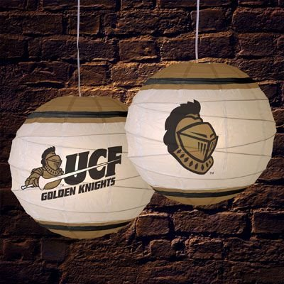 Central Florida Knights 18 Inch Rice Paper Lamp NCAA College Athletics Fan Shop Sports Team Merchandise
