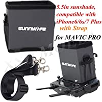 5.5in Remote Controller Sunhood All-surround Smartphone Sunshade with Strap for DJI MAVIC PRO