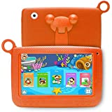 LLLtrade 7 inch Kids Education Tablets Android 5.1 8GB, Kids Software Pre-Installed, Premium Parent Control, Educational Game Apps,Wifi,Bluetooth (Orange)