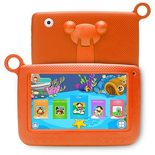LLLtrade 7 inch Kids Education Tablets Android 5.1 8GB, Kids Software Pre-Installed, Premium Parent Control , Educational Game Apps ,Wifi ,Bluetooth (Orange) by llltrade