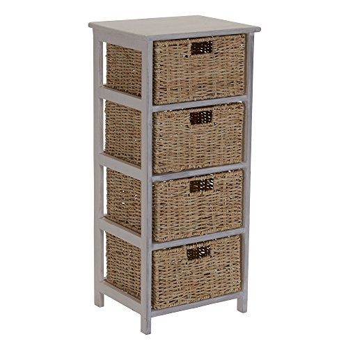 Household Essentials ML-5430 ML-5430 4 Drawer Chest (Drawers Chest Wicker With)