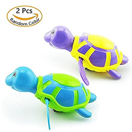2 Pack Baby Bath Toys Clockwork Turtle For Toddlers Boys Girls,Wind up Water Toys