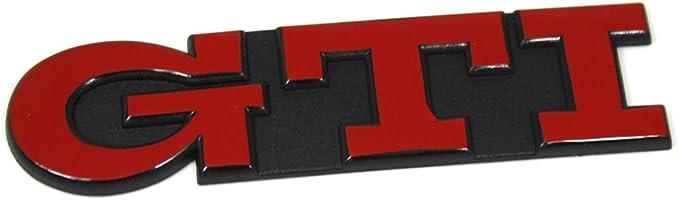 Schriftzug Gti Heckklappe Emblem Tornadorot Auto