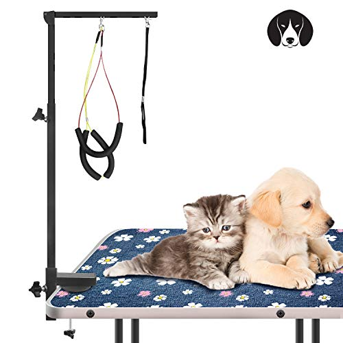 Urban Deco Dog Grooming Arm with Clamp Innovative Portable Two Grooming Arms – 41 inch Height Adjustable and Free Two No Sit Haunch Holder for Large and Small Dogs,Cats Dark Grey