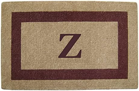 Heavy Duty 30 x 48 Coco Mat Brown Single Picture Frame, Monogrammed Z