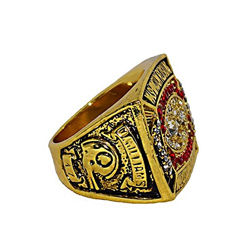 WASHINGTON REDSKINS (Doug Williams) 1987 SUPER BOWL XXII WORLD CHAMPIONS (42 10 Vs. Broncos) Rare & Collectible Replica National Football League Gold NFL Championship Ring with Cherrywood Display Box