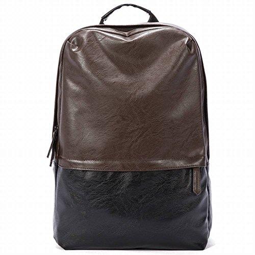 Computer Tasche Einfachen Trend Hit Farbe Rucksack Pu Rucksack Usb-Schnittstelle Reisen Umhängetasche , braun