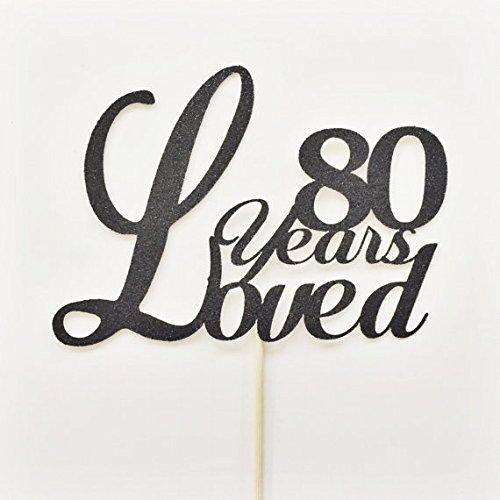 Amazoncom Eightieth Birthday Cake Topper 80th Birthday Cake