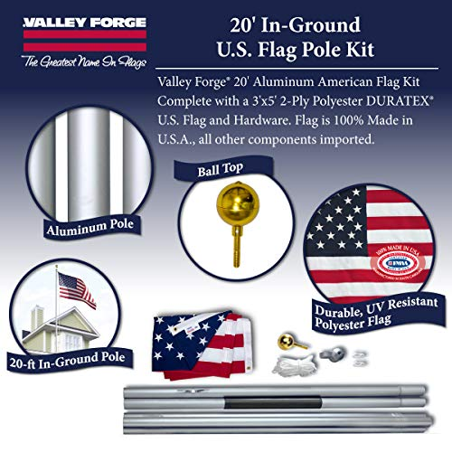 3x5 U.S Army Star 2ply Flag White Pole Kit Set 3/'x5/'