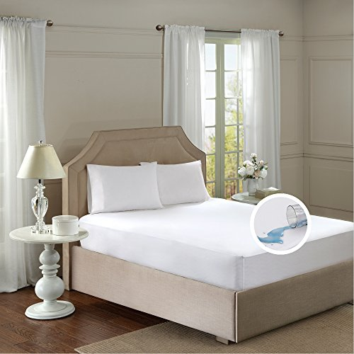 Mattress Protector Encasements – Fitted Sheet Style – Waterproof, 3M Stain Resistant, Dust Mite Proof –Full Size – White – by Comfort Spaces