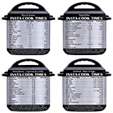 4 Pack Magnetic Cheat Sheet Compatible with Instant Pot Electric Pressure Cooker Accessories Magnet Cooking Times Quick Reference Guide for 64 Common Prep Functions