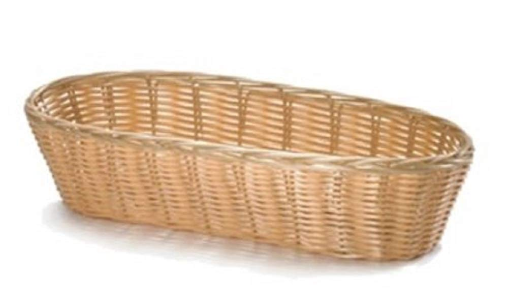 Tablecraft 1113W Basket 13'' x 5'' x 3'' oblong natural - Case of 12