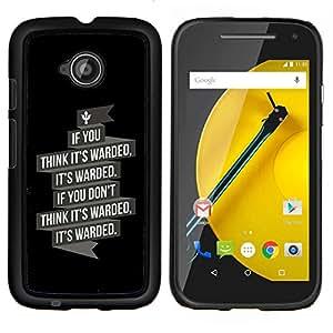"""For Motorola Moto E2 / E 2nd gen , S-type Se warded"""" - Arte & diseño plástico duro Fundas Cover Cubre Hard Case Cover"""