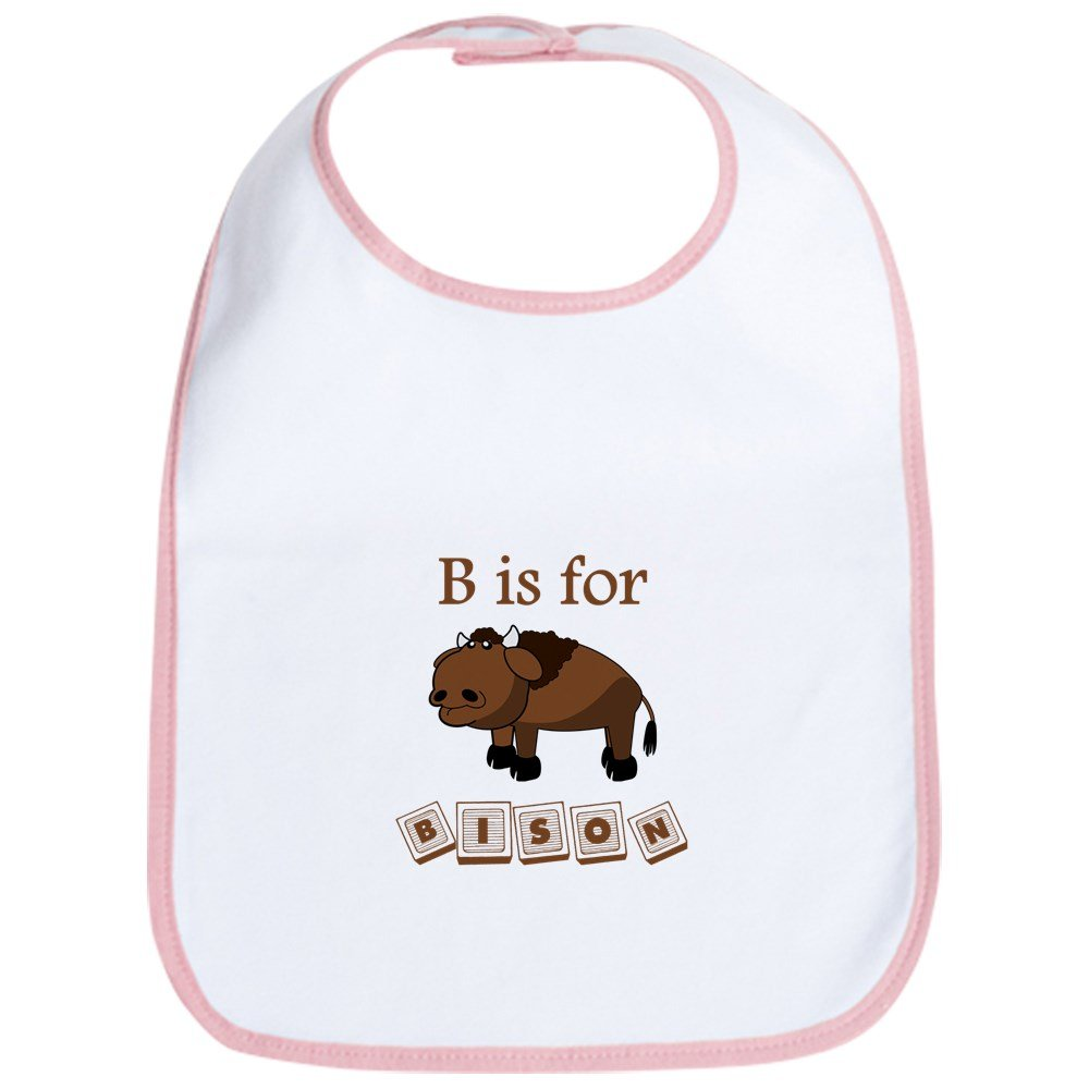 CafePress - B Is For Bison Bib - Cute Cloth Baby Bib, Toddler Bib
