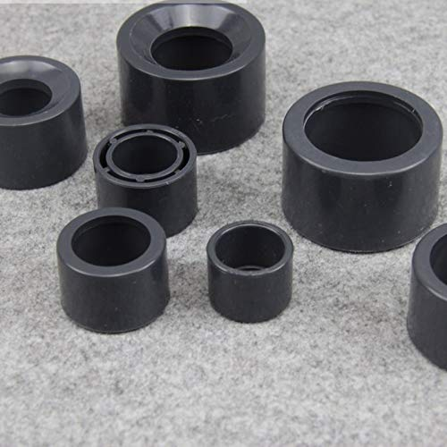 Kammas 2pcs UPVC Pipe Bush Reducer Union Connector Plastic Irrigation Water Pipe Reducing Joint Pipe Repair Fittings - (Diameter: 40mm to 32mm, Color: Black)