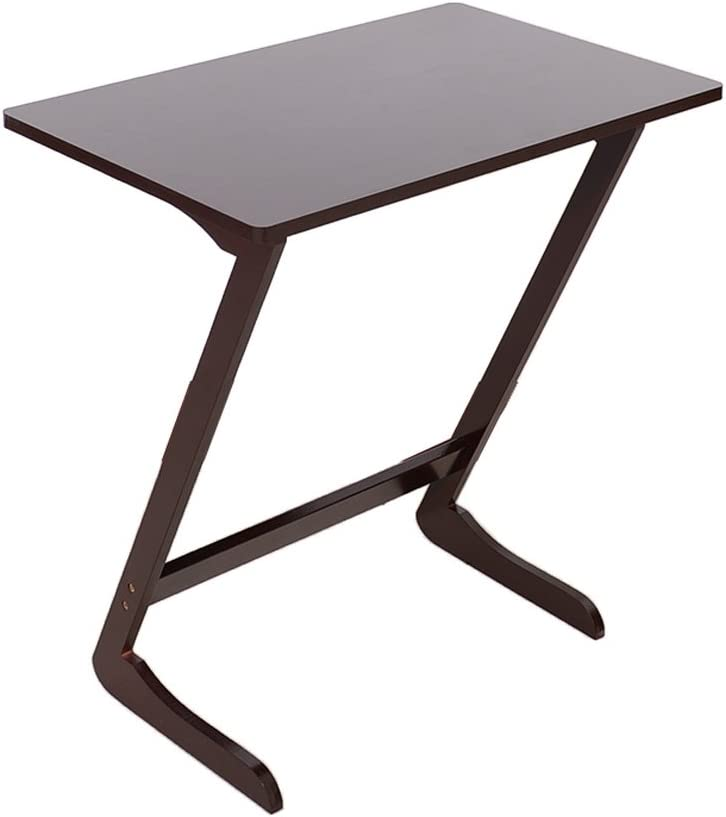 Z-Shaped Side Table,Coffee End Table Snack TV Breakfast Tray Sofa Writing Workstation Laptop Desk Stand Holder for Entryway Living Room Bedroom Home Office Natural Bamboo Coffee