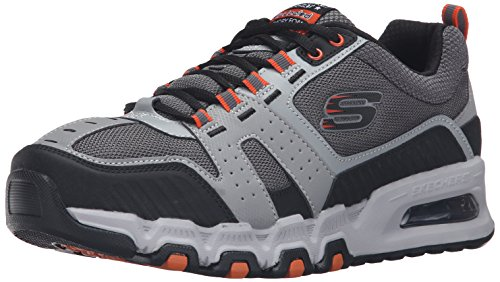 Skechers Sport Hommes G Force Air Oxford Sneaker, Gris / Orange