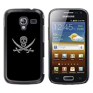 Stuss Case / Funda Carcasa protectora - PIRATA CRÁNEO Y ESPADAS - Samsung Galaxy Ace 2