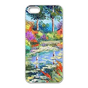 Countryside pond scenery Phone Case for iPhone 5S(TPU)