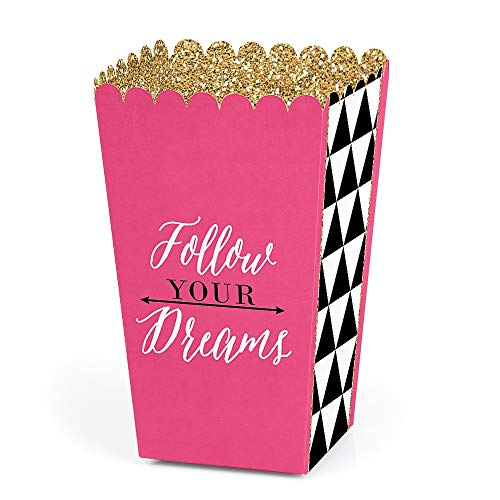 (Dream Big - Graduation - Party Favor Popcorn Treat Boxes - Set of 12 )