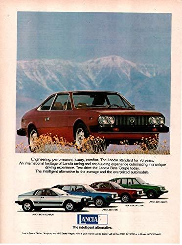 Lancia Beta Coupe - Magazine Print Ad: 1976-1977 Lancia Beta Scorpion, Beta HPE, Coupe, Sedan,