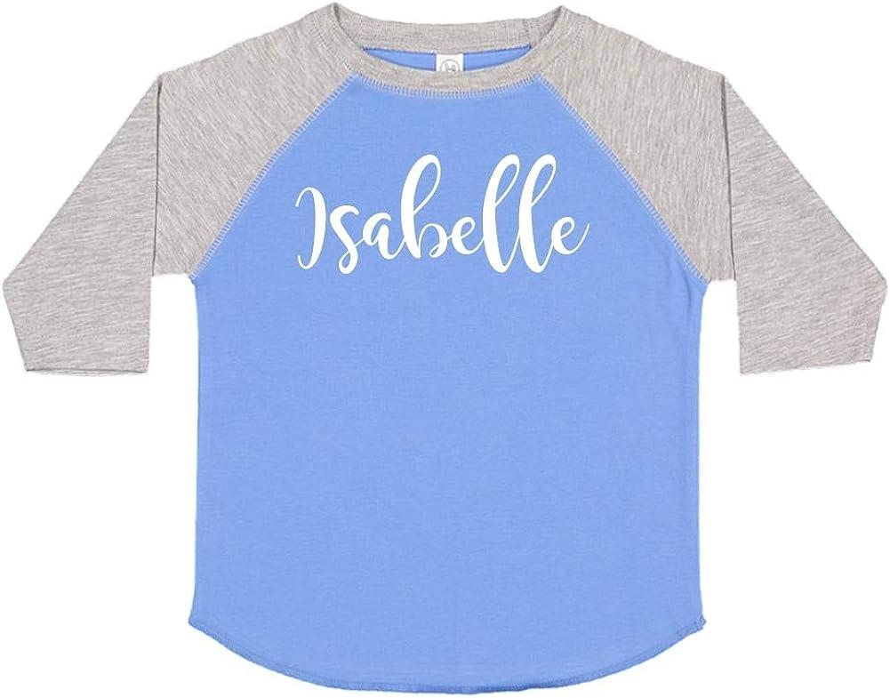 Mashed Clothing Isabelle Personalized Name Toddler//Kids Raglan T-Shirt