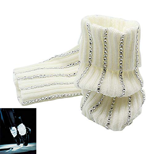 FFtto MJ Micheal Jackson Socks Billie Jean Baggy Ankle Crystal Socks Handmade 100% For MJ Fans Collection -