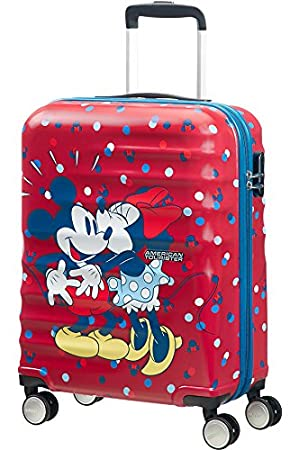 American Tourister Disney Wavebreaker - Spinner 55/20 Bagage cabine, 55 cm, 36 liters, Multicolore (Minnie Loves Mickey)