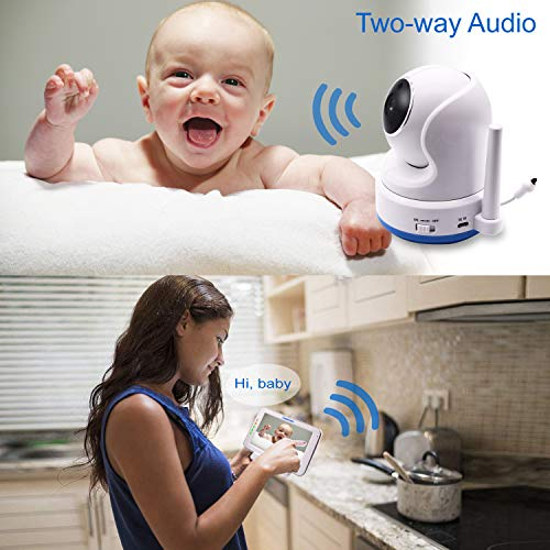 """51Z0bTzsLDL CasaCam BM200 Video Baby Monitor with 5"""" Touchscreen and HD Pan & Tilt Camera, Two Way Audio, Lullabies, Nightlight, Automatic Night Vision and Temperature Monitoring Capability    Product Description"""