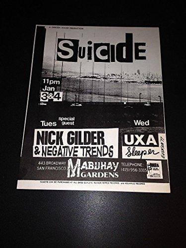 Suicide Martin Rev Alan Vega Mubuhay Gardens Synth Punk Concert Poster Flyer