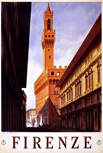 Firenze, travel poster for Enit, 1938 - Restored Art Print