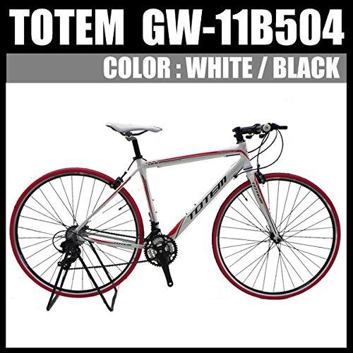 クロスバイク ロードバイク スポーツバイク 自転車 超軽量アルミフレーム 700C ダブルクイックハブ シマノ SHIMANO TOTEM トーテム 通勤通学 26インチ 11B504 B076CJDQW8