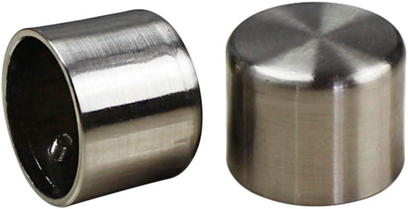 uxcell Curtain Rod Finials Plastic End 28mm X 27mm Brown 2pcs