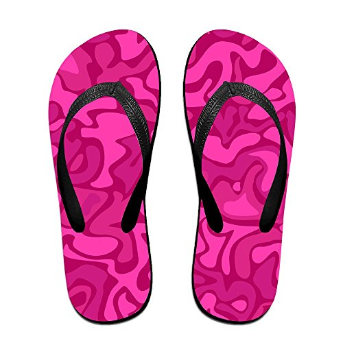 2529c67e005c1a Unisex Summer Red Camouflage Beach Slippers Home Home Home Flip-Flop Flat  Thong Sandal Shoes Parent B079YKWF61 73b605