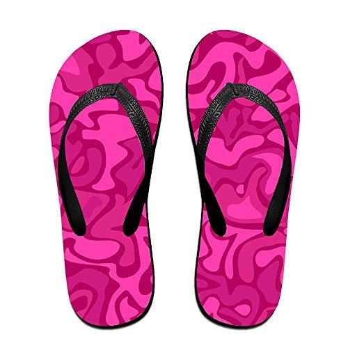 edd487b3770e Unisex Summer Red Camouflage Beach Slippers Home Home Home Flip-Flop Flat  Thong Sandal Shoes Parent B079YKWF61 73b605