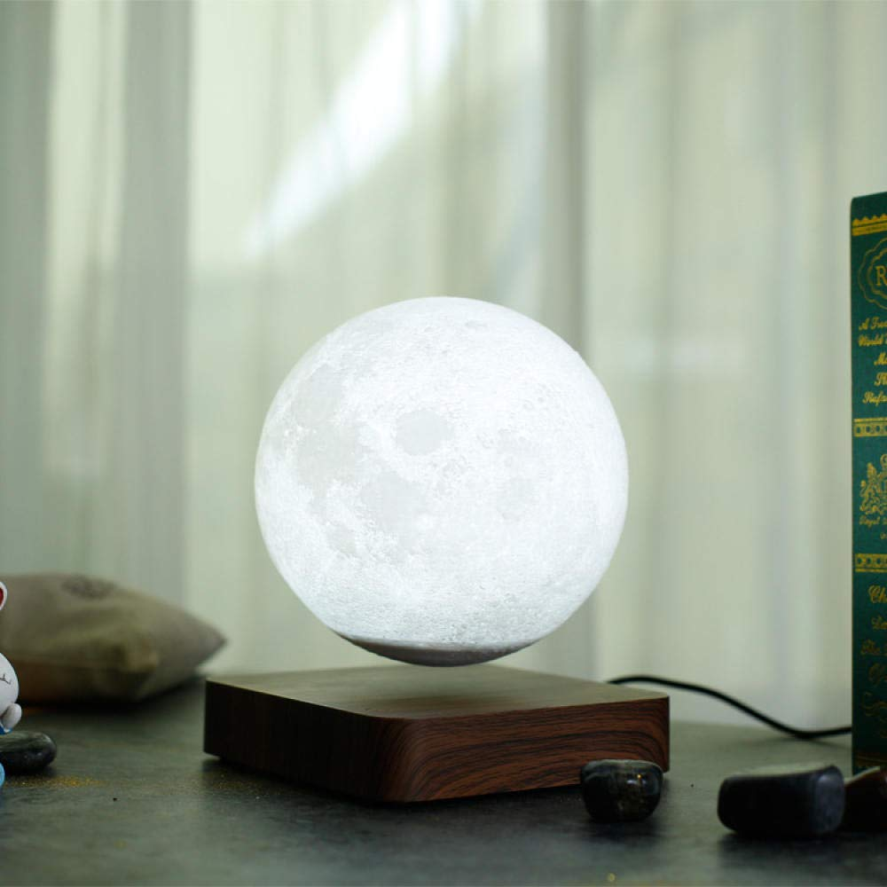 WPKNBAAAT Maglev LED luz de la Luna de la Noche Impresi/ón en 3D L/ámpara Lunar Regalo de cumplea/ños Creativo D/ía de San Valent/ín rom/ántico Rotaci/ón de levitaci/ón magn/ética