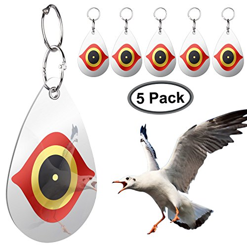 Bird Repellent,Predator's Eyes and Light Reflective To Scare Birds Away-Everyday Bird Control Keep Woodpeckers and Nuisance Birds Away From Property-Better Than Bird Spikes and Pest Repeller-Set Of 5 by JFDWOPHT