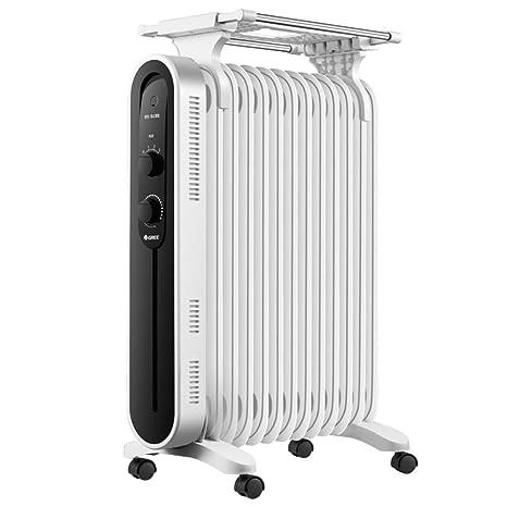 QTQZ Radiador portátil eléctrico,Parrilla eléctrica de la Estufa eléctrica Calentador de Aceite Toda habitación