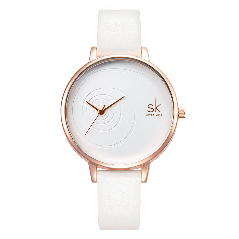 Amazon.com: SK Women Watches Leather Band Luxury Quartz Watches Girls Ladies Wristwatch (0056 Grey): Watches